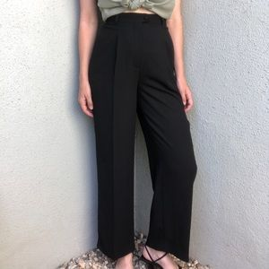 [vintage] high waist wide leg back trousers